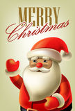传染媒介与圣诞老人的圣诞卡 免版税库存图片