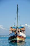 坦桑尼亚的单桅三角帆船 免版税库存图片