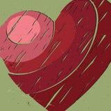большое красное сердце Стоковые Изображения RF