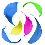 色的油漆飞溅 图库摄影