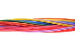 Компоненты трубопровода сокращения жары для изоляции кабелей Стоковое фото RF