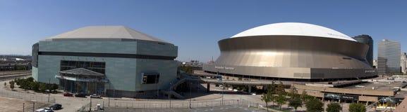 新奥尔良体育和娱乐复合体(全景) 库存图片