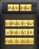 Χρονόμετρο αντίστροφης μέτρησης. Σύνολο άσπρων ψηφιακών αριθμών Στοκ φωτογραφία με δικαίωμα ελεύθερης χρήσης