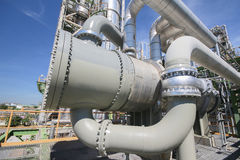 热转换器在工厂设备 库存图片