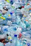 宠物装瓶垃圾 免版税图库摄影