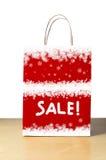 斯诺伊冬天销售袋子 免版税库存图片