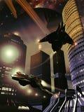 远的行星城市 免版税库存图片