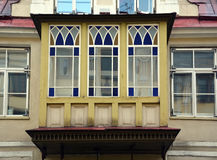 Винтажный балкон стиля Стоковое Изображение