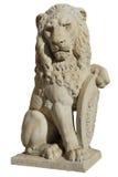 从佛罗伦萨的狮子雕象,被隔绝 库存照片