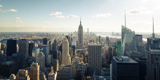Ορίζοντας της Νέας Υόρκης Στοκ Εικόνες