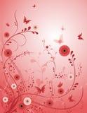 背景花玫瑰色向量 免版税库存照片