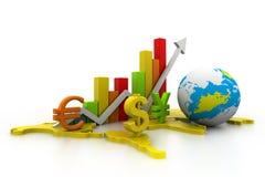 国际商业图表 库存照片
