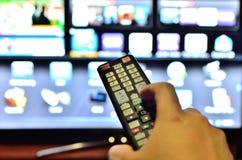 遥控为电视 免版税图库摄影