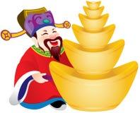 Κινεζικός Θεός της απεικόνισης σχεδίου ευημερίας Στοκ Εικόνες