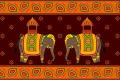 Украшенный слон Стоковые Фото