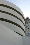 古根海姆美术馆外部细节 免版税库存照片