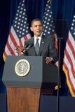 贝拉克・奥巴马总统在亚利桑那 库存照片