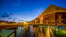 在马尔代夫的愉快的天 库存照片