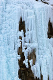 Стена льда на горах Стоковые Фото