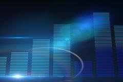Накаляя голубая диаграмма в виде вертикальных полос Стоковые Изображения
