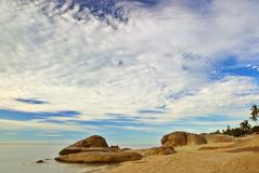 海滩早晨 库存照片