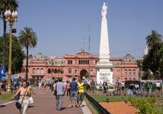 五月广场,布宜诺斯艾利斯,阿根廷 免版税库存照片