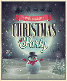 Αφίσα Χριστουγέννων. Στοκ Εικόνα