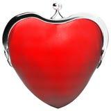 心脏钱包,爱 免版税库存图片