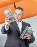 Επιχειρηματίας κάτω από την ομπρέλα Στοκ φωτογραφίες με δικαίωμα ελεύθερης χρήσης