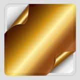 Χρυσή αυτοκόλλητη ετικέττα. Στοκ Εικόνα