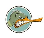 恼怒的动画片鸭子 图库摄影