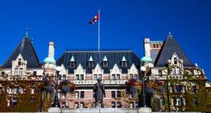 历史的女皇旅馆维多利亚不列颠哥伦比亚省加拿大 免版税图库摄影