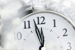 新年时钟 免版税库存照片