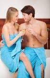 Романтичная ванна Стоковое Фото
