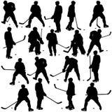 曲棍球运动员 免版税图库摄影