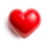 红色华伦泰石头般的心 图库摄影