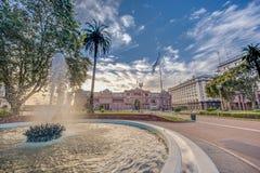五月广场在布宜诺斯艾利斯,阿根廷。 免版税库存图片