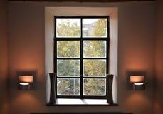 葡萄酒窗口室内设计 库存图片
