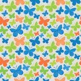 蝴蝶无缝的色的样式 库存图片