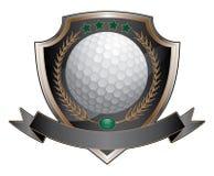 高尔夫球设计盾 免版税库存图片