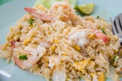 Τηγανισμένο ρύζι με τις γαρίδες Στοκ εικόνες με δικαίωμα ελεύθερης χρήσης