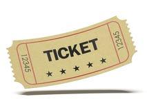 Αναδρομικό εισιτήριο κινηματογράφων Στοκ Φωτογραφία