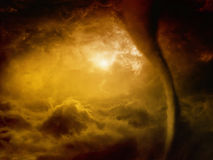 地狱龙卷风 库存照片