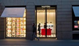 瓦伦蒂诺商店 库存照片