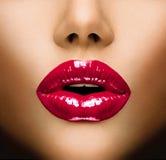 Сексуальные губы Стоковое Фото