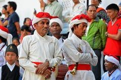 尼泊尔的军事乐队 免版税库存图片