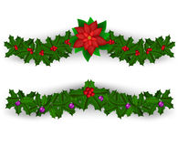 Σύνολο διακοσμήσεων συνόρων Χριστουγέννων Στοκ φωτογραφία με δικαίωμα ελεύθερης χρήσης