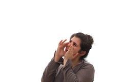 Кричать молодой женщины Стоковые Фото
