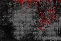 有血液的难看的东西墙壁 免版税库存照片