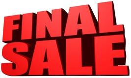 Окончательная продажа Стоковые Изображения